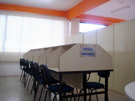 Cabines individuais para estudos